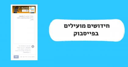 חידושים בפייסבוק:ממשק מודעות, הודעות ישירות מהאתר ומצגת תמונות